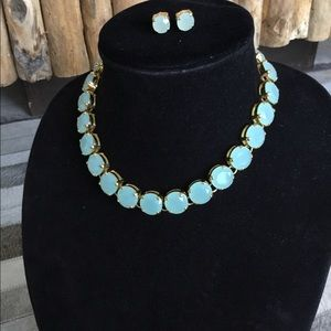 J.crew statement necklace and matching earrings